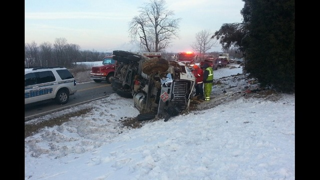 Overturned Semi Closes Highway in Webster Co.