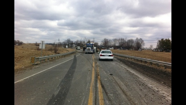 Overturned Semi Shuts Down Parts of Highway 57 in Gibson County