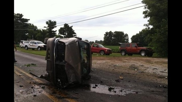 2 Car Accident Shuts Down Road Near Reo School