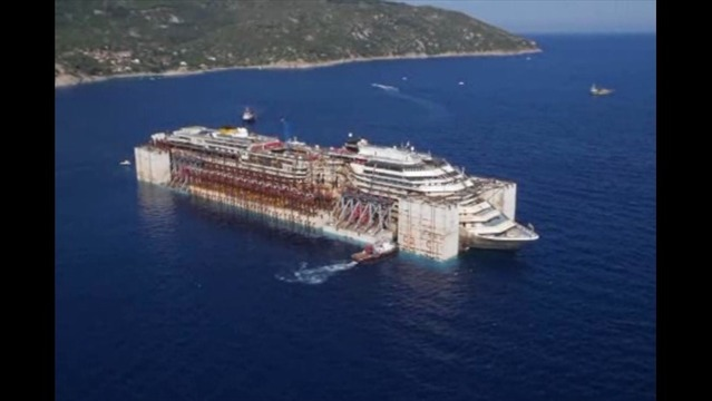 Costa Concordia Begins Final Journey