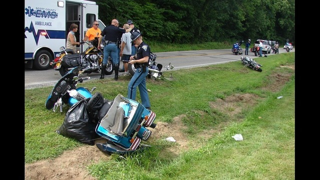 Crash Occurs During Governor's Motorcycle Ride