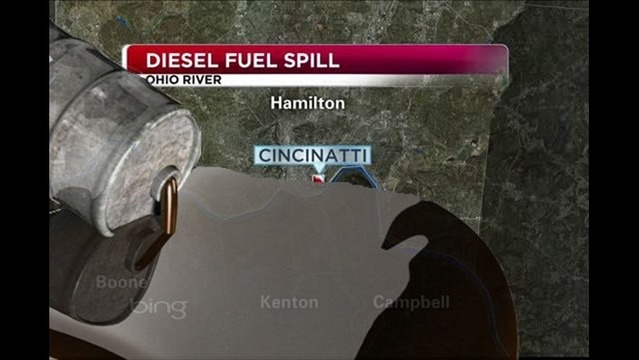 Massive Fuel Spill in the Ohio River