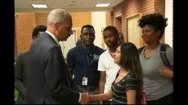 Attorney General Eric Holder Meets with Leaders in Ferguson