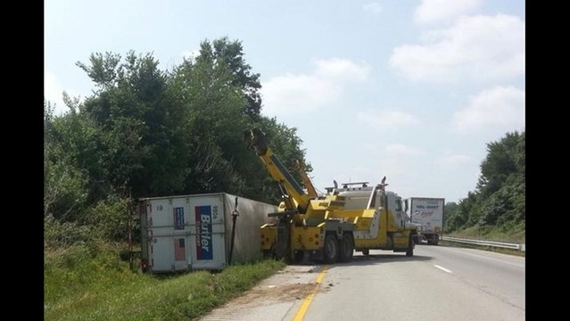 Tractor Trailer Crash Snarls Traffic for Nearly Three Hours