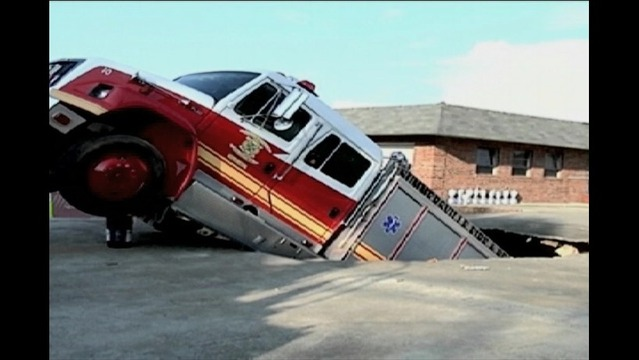 Firefighters Rescued After Firetruck Falls into Underground Garage