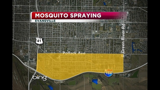Mosquito Spraying Tonight in Evansville