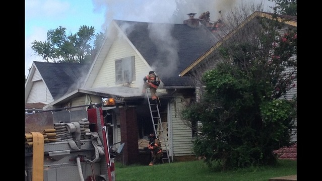 Fire Fighters Battle Early Afternoon Blaze on South Side