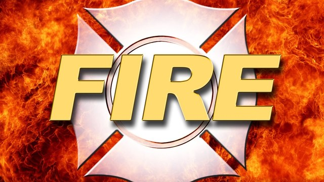 Person arrested on warrant while crews respond to fire