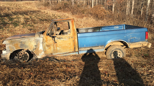 Truck Found Burned in Dubois County