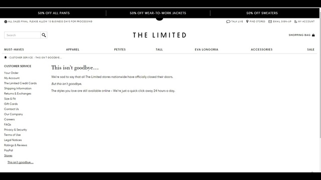 'The Limited' Closing All Stores