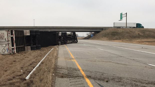 ISP: Semi Rolls Over on Highway 41 in Gibson Co.
