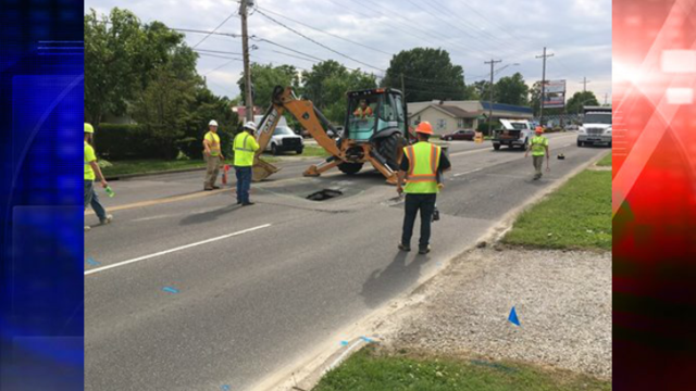 Sinkhole Opens Up on Covert Avenue