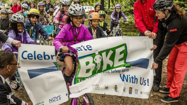 Several area schools participate in 'Bike to School' day
