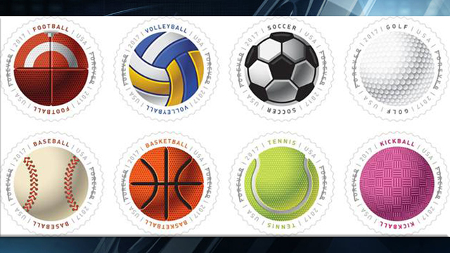 USPS to Release Stamps That Mimic Texture of Sports Balls