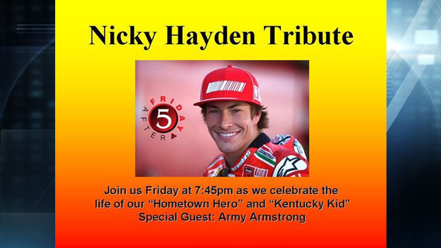 Friday After 5 to Feature Tribute to Nicky Hayden
