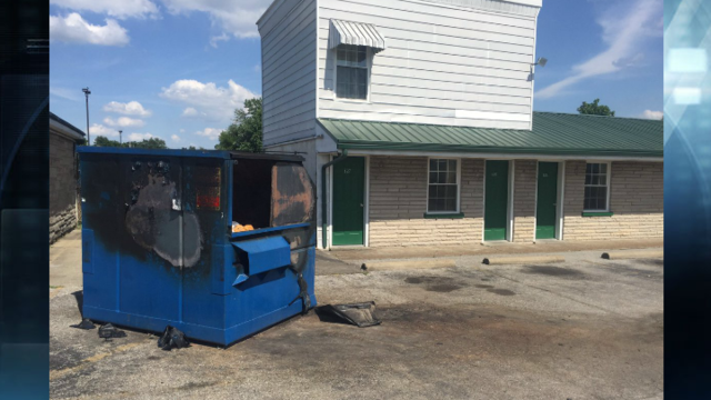 EFD Extinguish Dumpster Fire at Motel