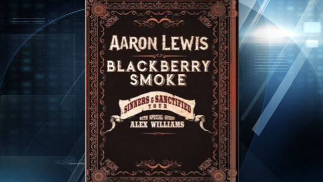 Aaron Lewis, Blackberry Smoke to Perform in Evansville This Fall