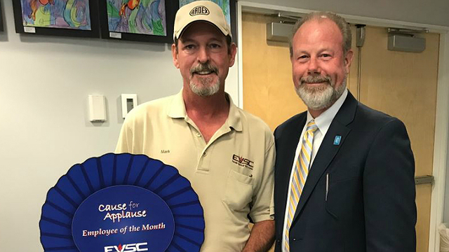 Floor Covering Specialist Receives EVSC's 'Cause for Applause' Award