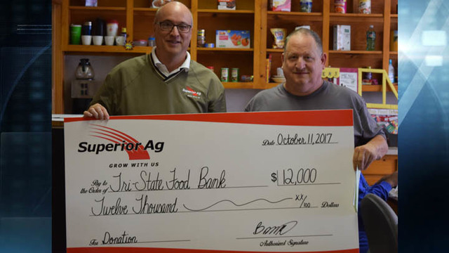 Superior Ag donates to Shared Abundance, Tri-State Food Bank