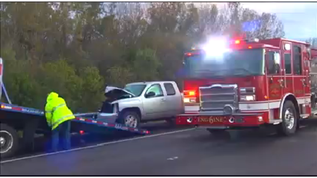 Deputies: Driver of vehicle taken to hospital after crash with stolen truck