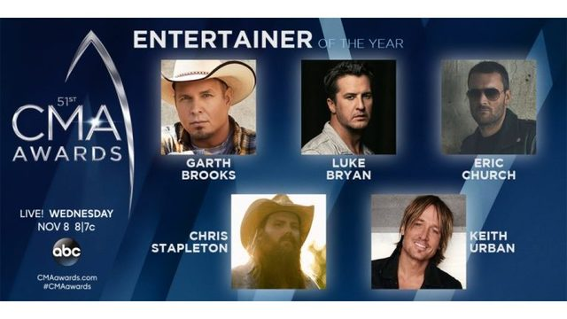 CMA Awards: Entertainer of the Year nominees