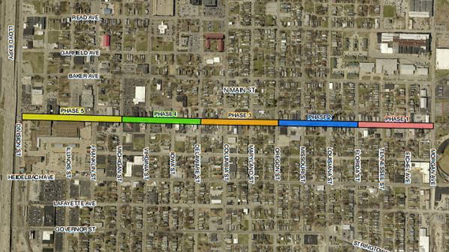 North Main scheduled to re-open for city Christmas Parade