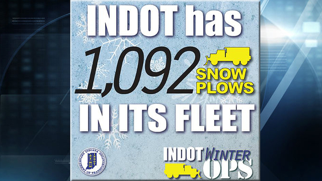 Full INDOT plow truck fleet planned for today's ice and snow
