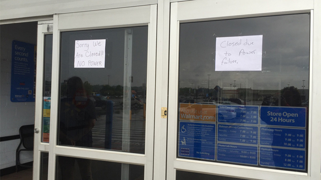 walmart closed due to power outage