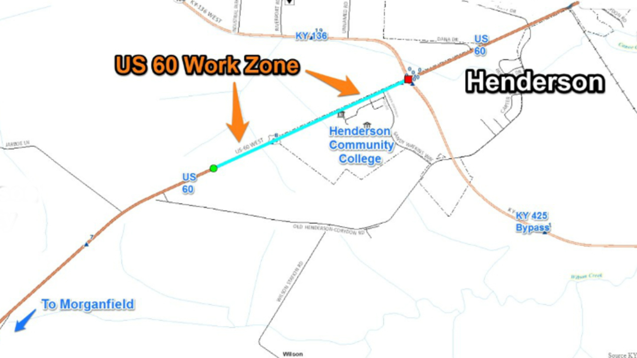 KTC Ramps Up US 60 Road Work Near Henderson Community College Today