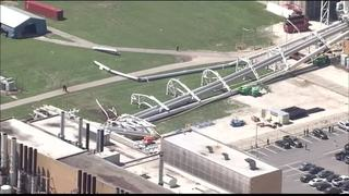 Piping Structure Collapses at Indy Plant