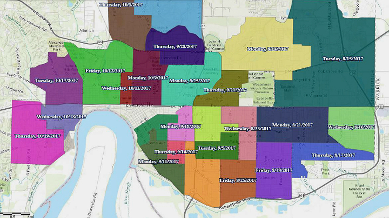 Evansville Illinois Map.What You Need To Know About Evansville S Heavy Trash Pick Up