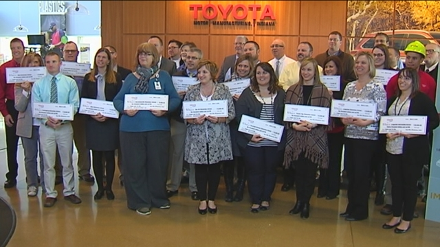 Toyota, Project Lead the Way award STEM funding for southern Indiana schools