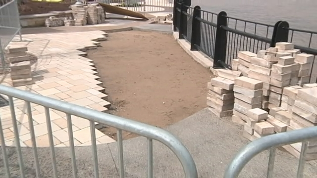 Repairs continue on Smothers Park sinkhole