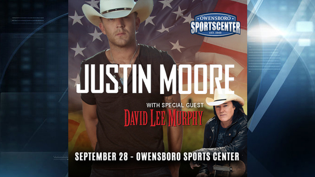 Justin Moore coming to Owensboro in September