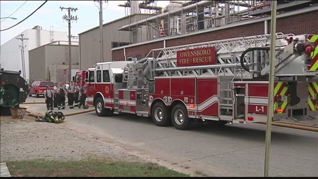 Equipment catches fire at Owensboro business