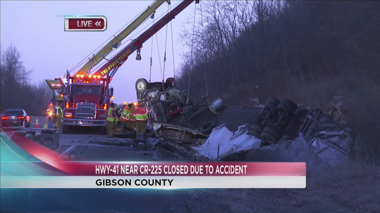 Semi crash forces part of Highway 41 in Gibson County to close