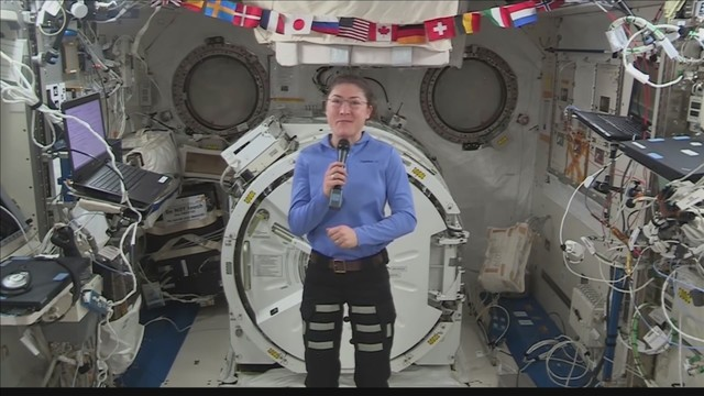 NASA astronaut sets record for single space flight by woman