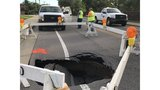 Northbound Oak Hill Road closed due to sinkhole