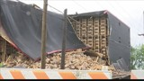 Portion of rickhouse collapses at O.Z. Tyler Distillery in Owensboro