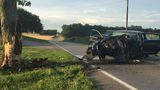 Part of Old Princeton Road shut down following crash, two people hospitalized